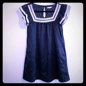 "Black Silky ""Babydoll"" Style Dress  ruffles short"